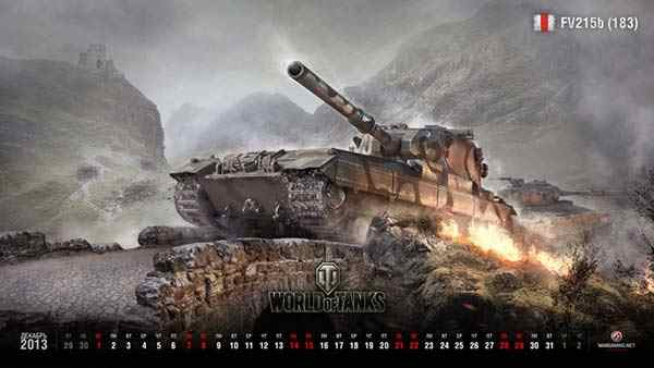 Календарь World of Tanks на декабрь
