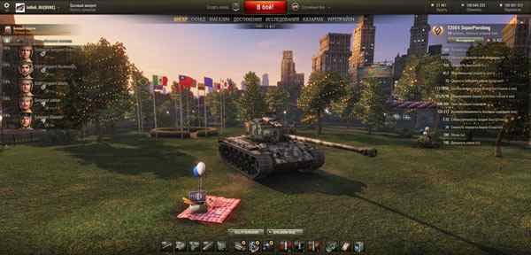 Ангар США World of Tanks