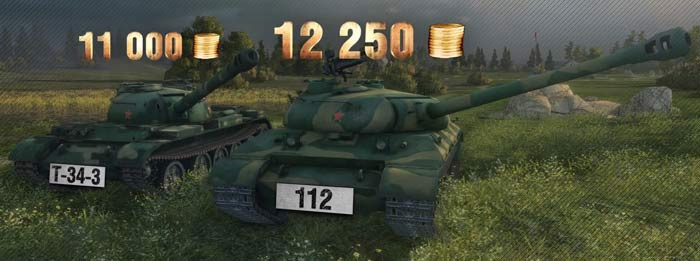 премиум танки Т-34-85 и 112 в world of tanks