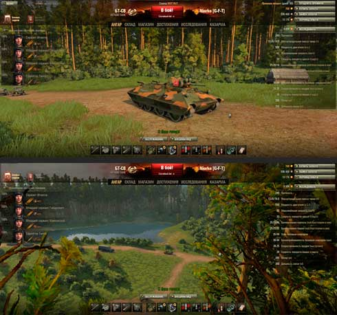 лесной ангар тундра для world of tanks